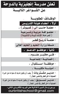 وظائف الشرق الوسيط قطر تخصصات مختلفة
