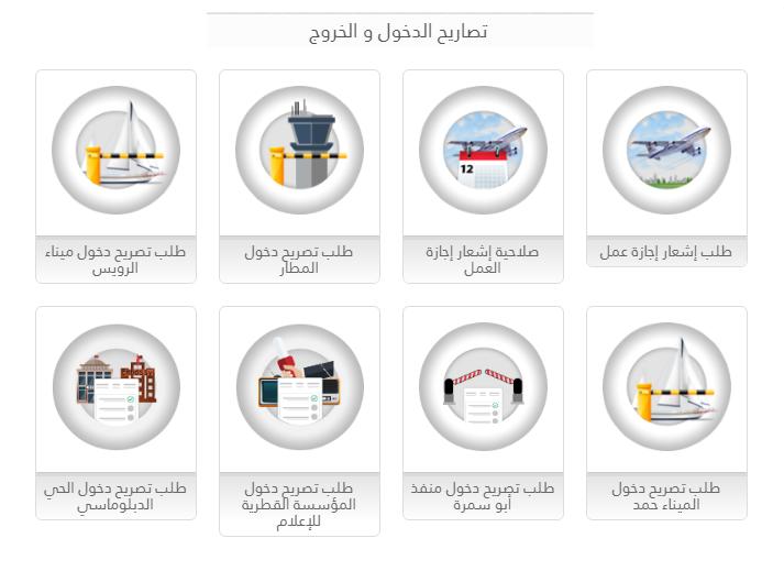 تصاريح الدخول والخروج في قطر