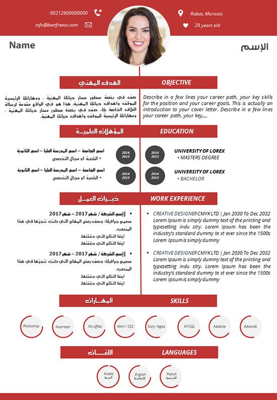 نموذج سيرة ذاتية عربي انجليزي 2020 موقع باقة للتوظيف